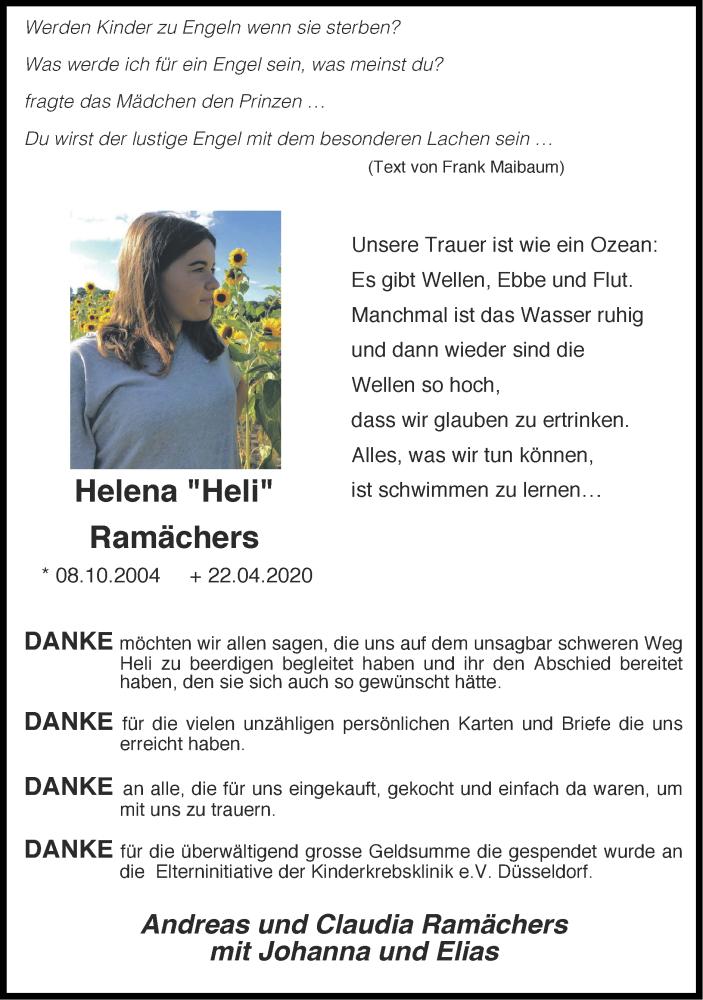 Traueranzeige für Helena Hell vom 28.06.2020 aus Zeitung am Sonntag