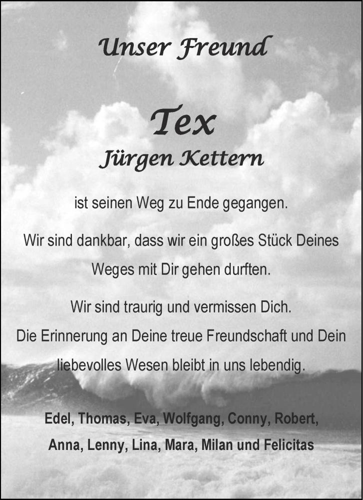 Traueranzeige für Jürgen Kettern vom 16.06.2020 aus Aachener Zeitung / Aachener Nachrichten