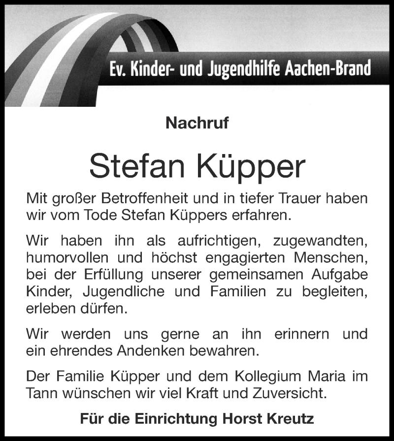 Traueranzeige für Stefan Küpper vom 26.09.2020 aus Aachener Zeitung / Aachener Nachrichten