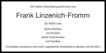 Traueranzeige von Frank Linzenich-Fromm von Zeitung am Sonntag