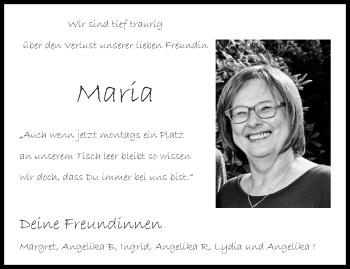 Traueranzeige von Maria  von Aachener Zeitung / Aachener Nachrichten