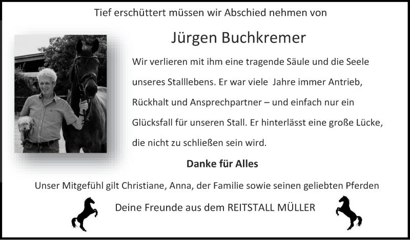 Traueranzeige für Jürgen Buchkremer vom 25.04.2021 aus Zeitung am Sonntag
